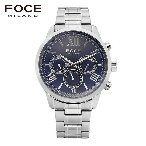 [포체 FOCE] FM7501BU BUTTON / 버튼 이창엽 착용 시계 남성용 메탈시계 멀티펑션 45mm