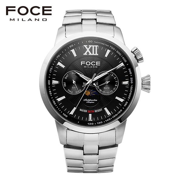 [포체 FOCE] FM915BK 남성용 쿼츠 메탈시계 문페이즈 46mm 박성훈 착용 시계