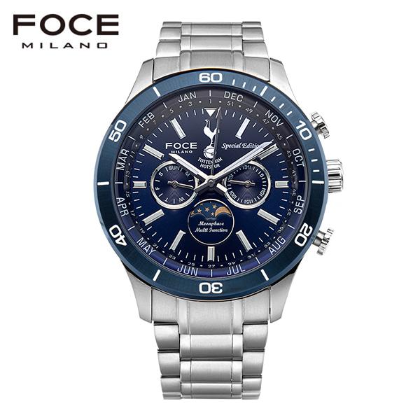 [포체 FOCE] FT3701BU 토트넘 Tottenham 신상 입고 남성용 메탈 시계 문페이즈 44mm