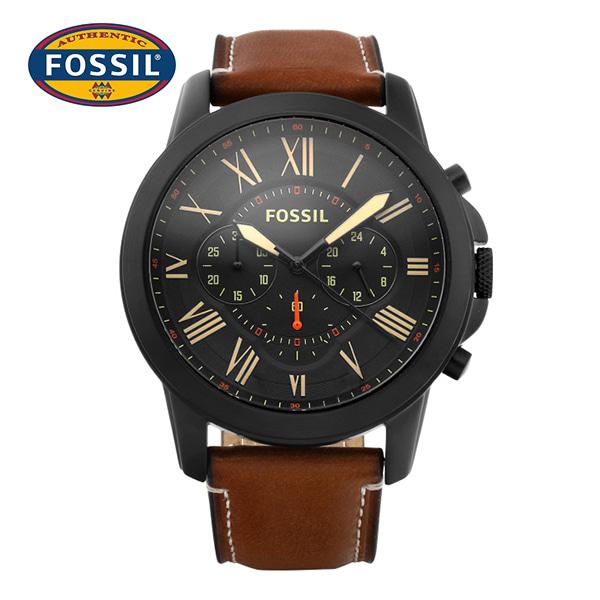 [파슬시계 FOSSIL] FS5241 / Chronograph 크로노그래프 남성용 가죽시계 44mm