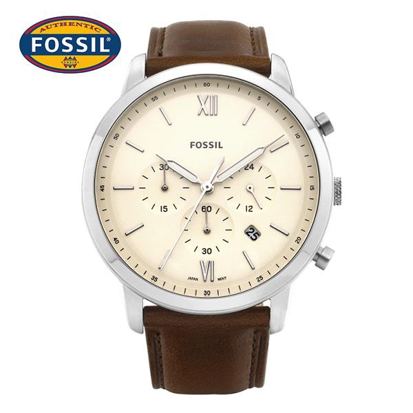 [파슬시계 FOSSIL] FS5380 / Neutra Chronograph 크로노그래프 남성용 가죽시계 44mm