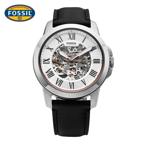 [파슬시계 FOSSIL] ME3101 / 스켈레톤 오토매틱 남성용 가죽시계 45mm 타임메카