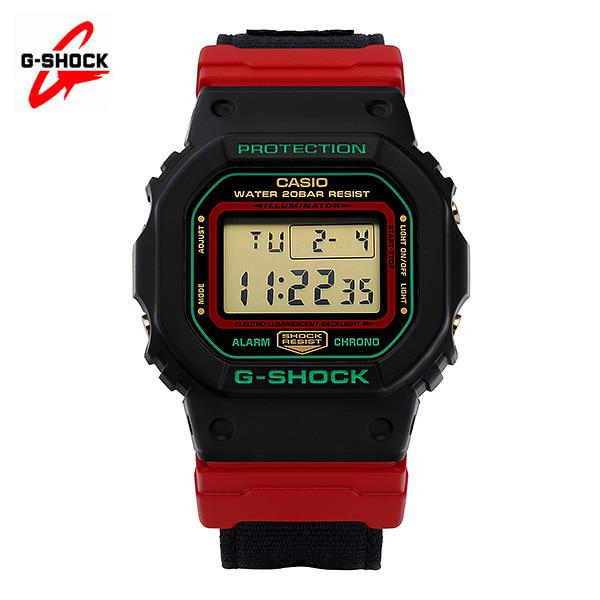 [지샥시계 G-SHOCK] DW-5600THC-1 / Throwback 스로우백 크리스마스 에디션 디지털 남성용 레진시계 47mm 타임메카