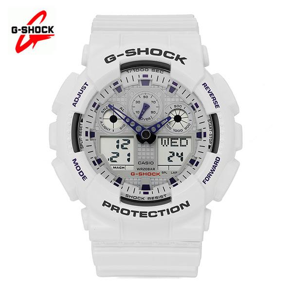 ☆-) [지샥시계 G-SHOCK] GA-100A-7A / 빅페이스 범블비 화이트