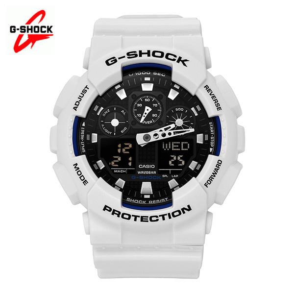 [지샥시계 G-SHOCK] GA-100B-7A / 빅페이스 범블비 화이트