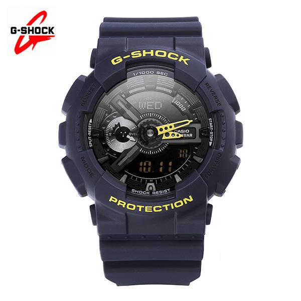 [지샥시계 G-SHOCK] GA-110LN-2A / 빅페이스 네온컬러 네이비 옐로