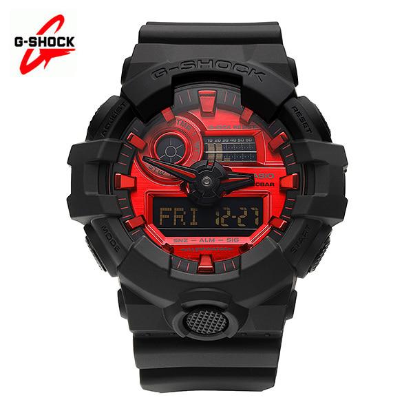 [지샥시계 G-SHOCK] GA-700AR-1A / 블랙&레드 시리즈 스페셜 컬러 스탠다드 디지털 남성용 레진시계 47mm 타임메카