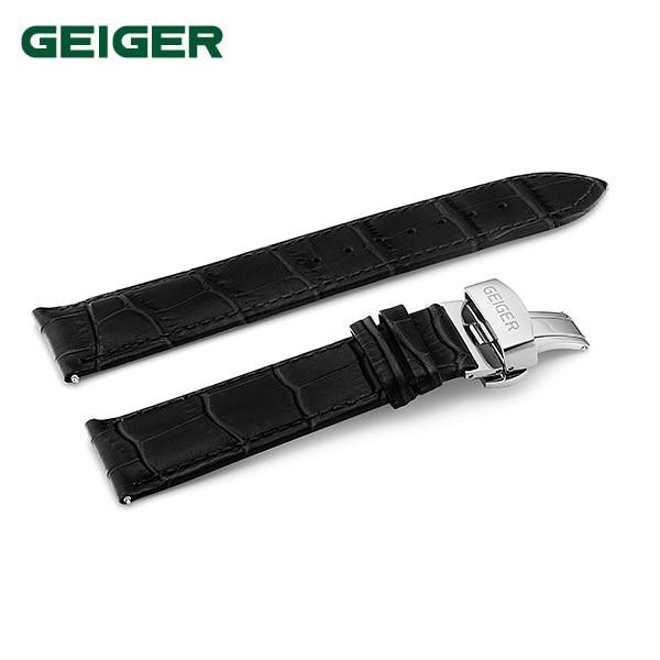 [가이거 GEIGER] GE-ST-01 디버클 블랙 가죽밴드 [GE1205,GE1161,GE1142,GE8017] 호환가능