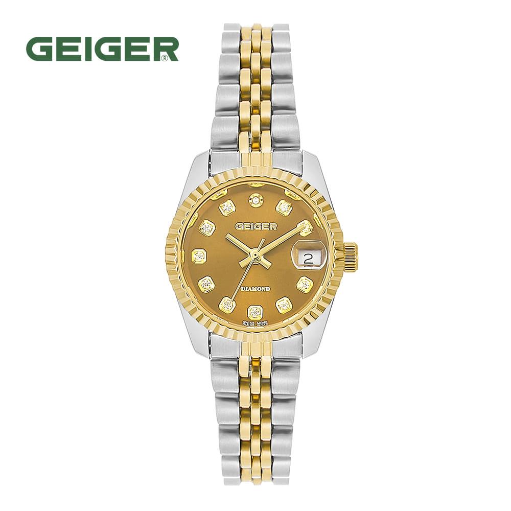 [가이거시계 GEIGER] GE8016GDCBL 여성용 다이아몬드 메탈 시계 골드 28mm 타임메카