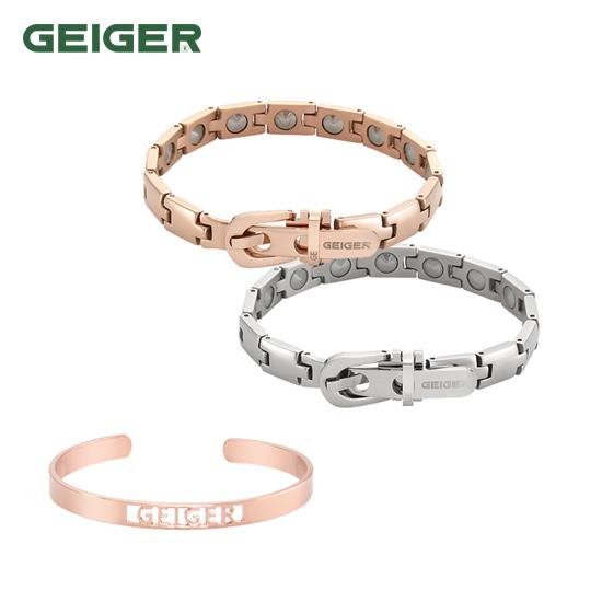 [가이거쥬얼리 GEIGER] 가이거 게르마늄 팔찌 5mm 정품 인그레이빙 팔찌 증정 타임메카