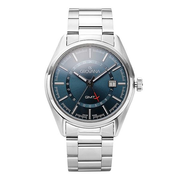 [그로바나시계 GROVANA] 1547.1135 / GMT 기능 남성시계 42mm
