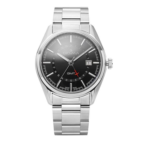 [그로바나시계 GROVANA] 1547.1137 / GMT 기능 남성시계 42mm