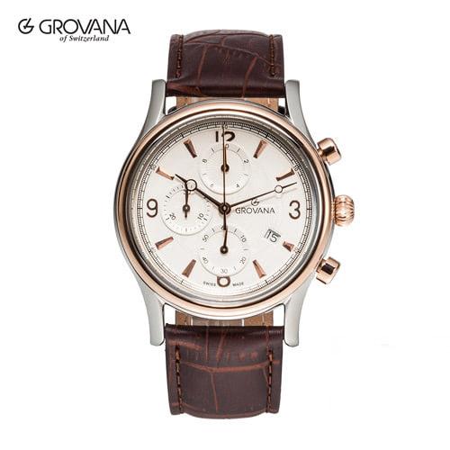 [그로바나시계 GROVANA] 1728.9552 / 남성시계 41mm자체발광 오피스 하석진시계