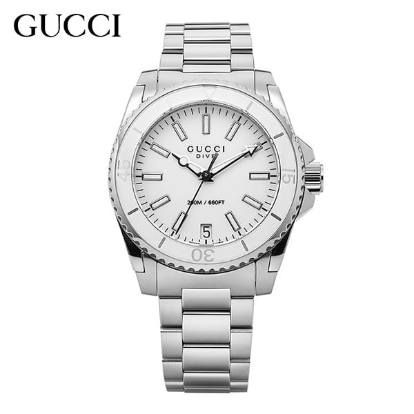 그뤠잇-) [구찌시계 GUCCI] YA136402 Dive Medium White Dial 32mm