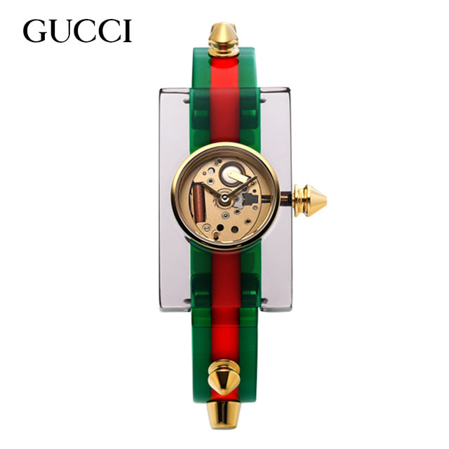 [구찌시계 GUCCI] YA143506 / Transparent Plexiglas 24x40mm