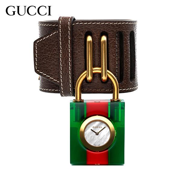 [구찌시계 GUCCI] YA150503 / Constance Plexiglas 여성용 팔찌 겸 자물쇠 시계 35x61mm