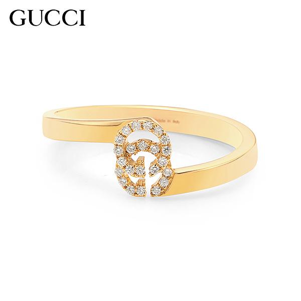 [구찌 쥬얼리 GUCCI] YBC457127002 (457127 J8540 5702) / RUNNING G 18K 옐로우골드 다이아몬드 더블 G 반지 타임메카