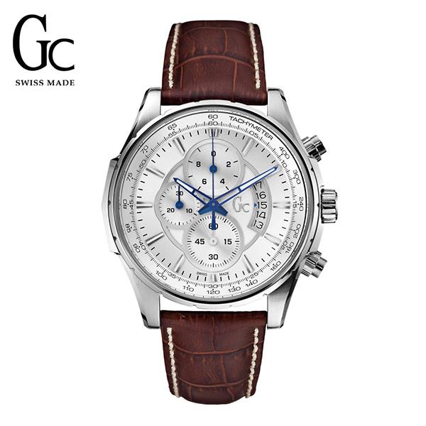 [지씨시계 GC] X81001G1S 남성용 가죽시계 / 쿼츠 44mm