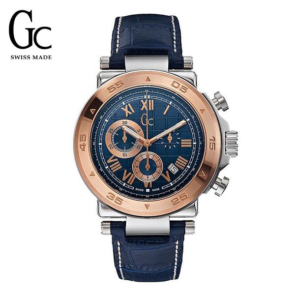 [지씨시계 GC] X90015G7S 남성용 가죽시계 / 쿼츠 44mm