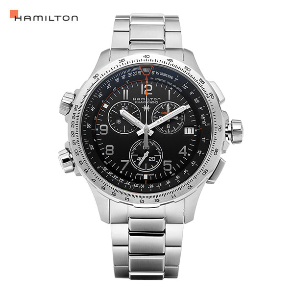 [해밀턴시계 HAMILTON] H77912135 / 카키 어비에이션(KHAKI AVIATION) X-Wind Chrono GMT 46mm