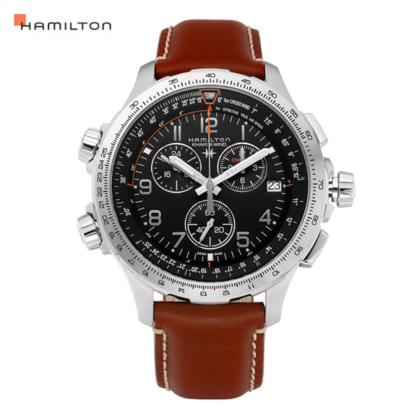 [해밀턴시계 HAMILTON] H77912535 / 카키 어비에이션(KHAKI AVIATION) X-Wind Chrono GMT 46mm