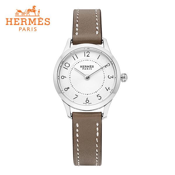 [에르메스 HERMES] CA2.110.220(SW18) (041733WW00) / 슬림 데르메스 Slim d'Hermes 스몰 PM 여성용 가죽시계 25mm 타임메카