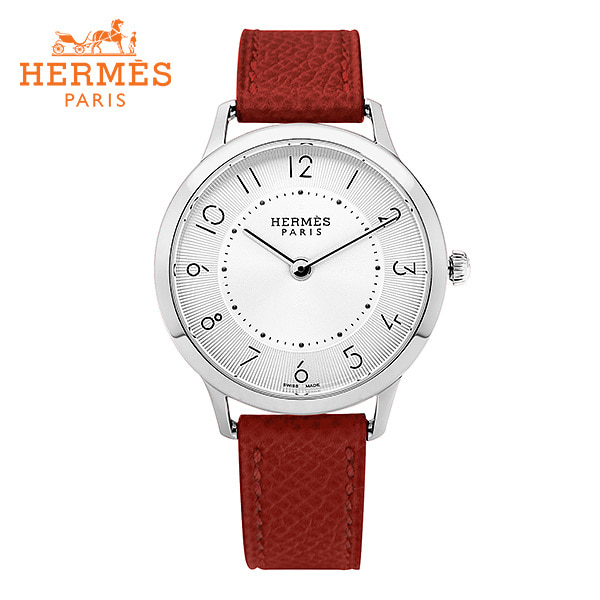 [에르메스 HERMES] CA2.210.220(UU5E) (041690WW00) / 슬림 데르메스 Slim d'Hermes 미디엄 MM 여성용 가죽시계 32mm 타임메카