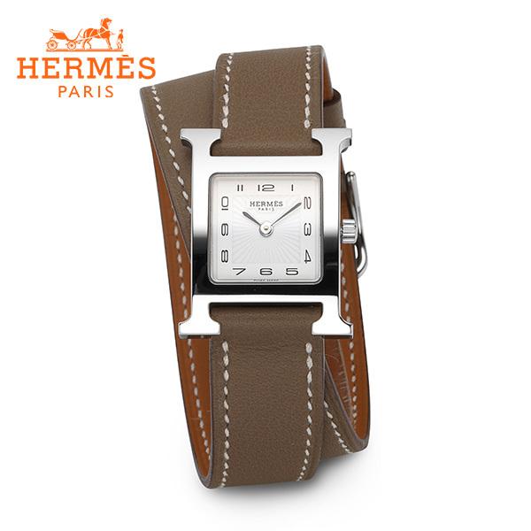 [에르메스 HERMES] HH1.210.131(SW181-I) (036721WW00) / H아워 은장 에토프 스몰 PM 여성용 더블 가죽시계 17mm HH1.210.131(WW181) 타임메카