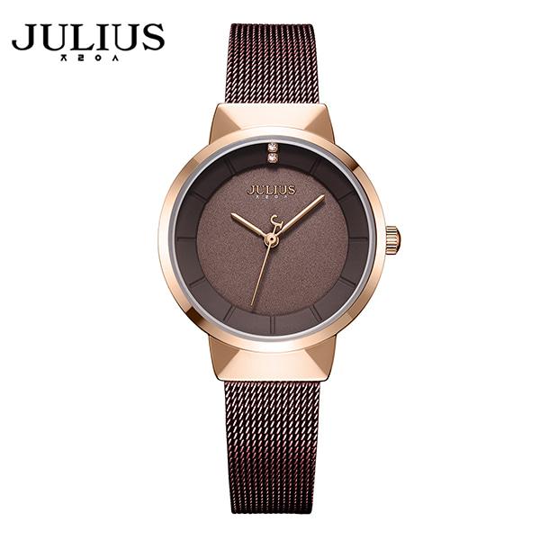 [쥴리어스 JULIUS] JA-1104LD 여성용 메쉬밴드 메탈시계 28 X 34.4mm 타임메카