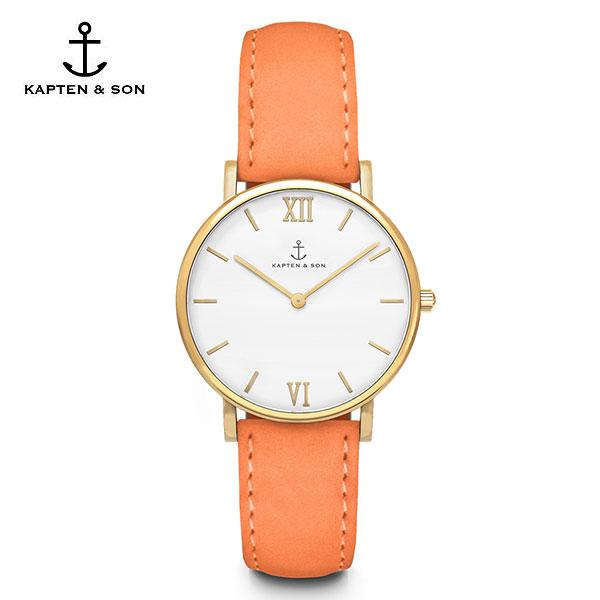 [캡튼앤썬 KAPTEN&SON] (4251145210106) Joy Peach Velvet Leather 공용 손목시계