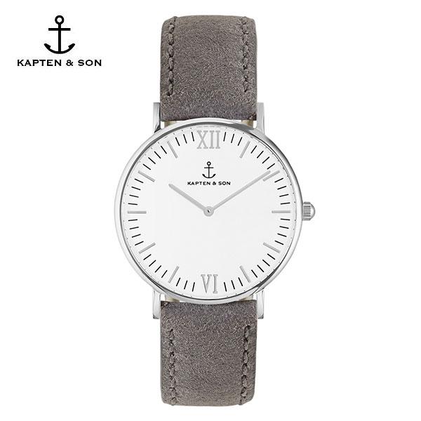 [캡튼앤썬 KAPTEN&SON] (4251145214586) Campina Silver Grey Vintage Leather 공용 손목시계