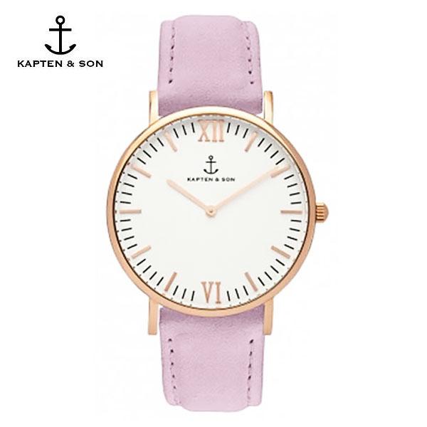 [캡튼앤썬 KAPTEN&SON] (4251145240158) Campina Lavender Velvet Leather 공용 손목시계