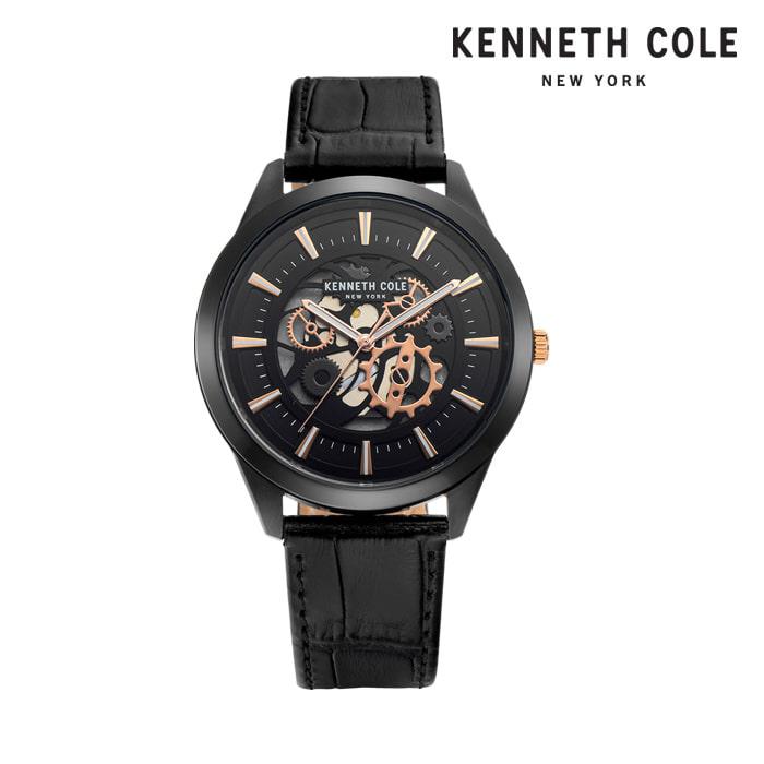 [케네스콜 KENNETH COLE] KC50632002 쿼츠 남성용 가죽시계 43mm 타임메카