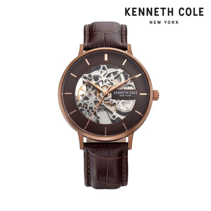 [케네스콜 KENNETH COLE] KC50780002 오토매틱 남성용 가죽시계 43mm 타임메카