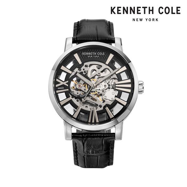 [케네스콜 KENNETH COLE] KC51018001 오토매틱 남성용 가죽시계 46mm 타임메카