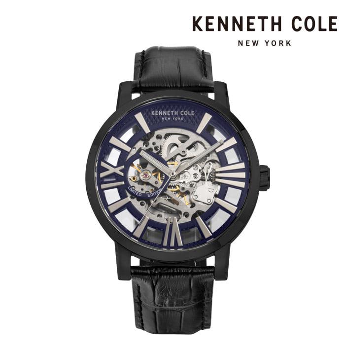[케네스콜 KENNETH COLE] KC51018022 오토매틱 남성용 가죽시계 46mm 타임메카