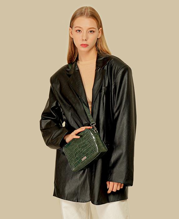 [록체 LOKCHE] 몰리 스퀘어백 (LOK-0404)Molly Square Bag -Green 타임메카