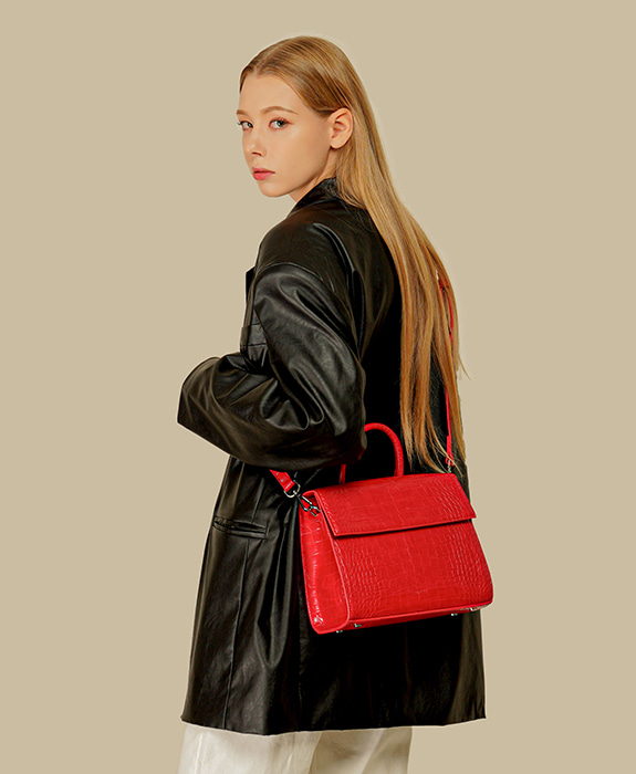 [록체 LOKCHE] 벨라 토트백 (LOK-0506)Bella Tote Bag -Red 타임메카