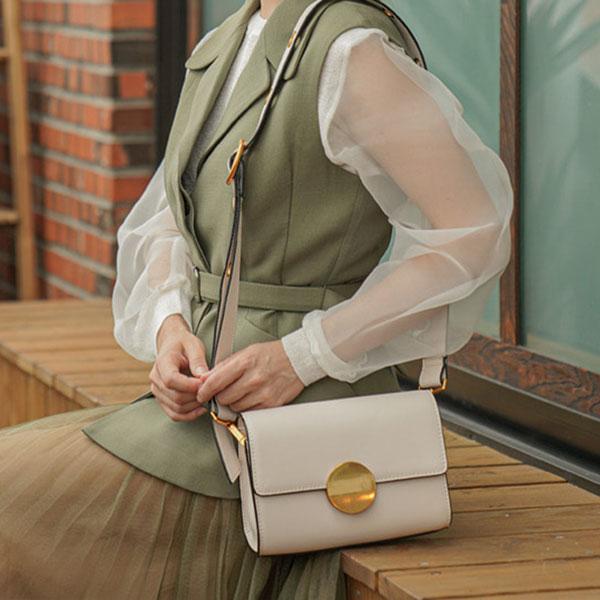 [뤼에르 LUEUR] 그레타 미니백(LER-0308) Greta Circle Mini Bag - Ivory 타임메카