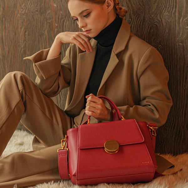 [뤼에르 LUEUR] 라모드 서클 미디움백(LER-0507) Lamode Circle Medium Bag Red 타임메카