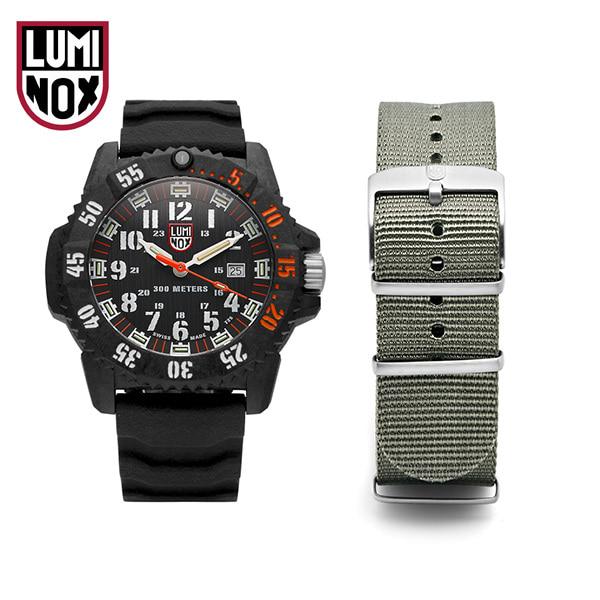 [루미녹스시계 LUMINOX] XS.3801.C.SET / Master Carbon Seal 3800 시리즈 나토밴드세트 우레탄시계 46mm