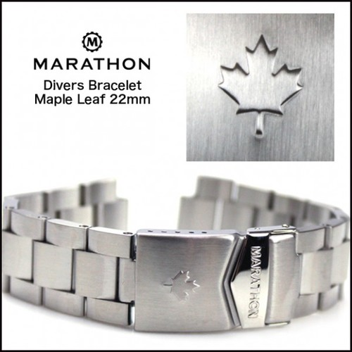 [마라톤 MARATHON] WW005007CA 22mm/ CSAR / JSAR Dive Bracelet Maple Leaf