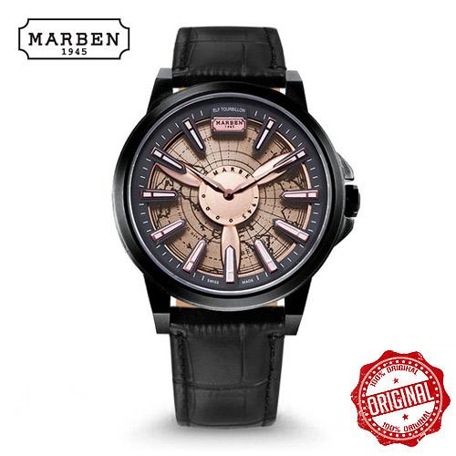 [마르벤 MARBEN] ELF330-22.LB 키네틱 가죽시계 45mm [자스페로코리아 정품] 엘프 뜨루비옹