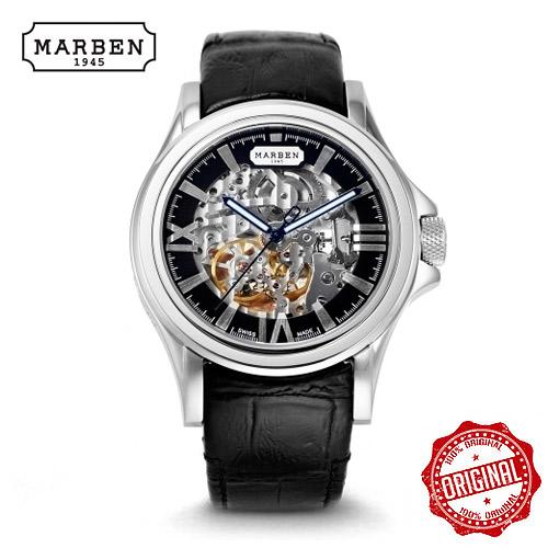 [마르벤 MARBEN] ME800-44.LB 박해진,전현무 착용 상품 오토매틱 가죽시계 43mm [자스페로코리아 정품] 메카니커