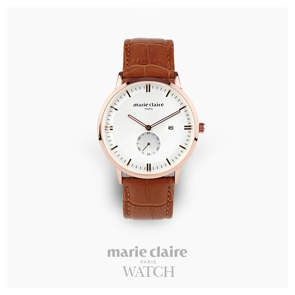 [마리끌레르시계 MARIECIAIRE] MCBB1572GWBR 국내본사 정품 가죽 시계
