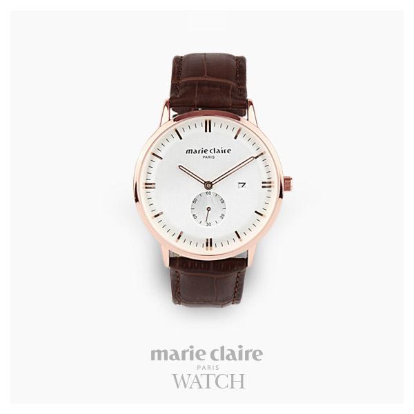 [마리끌레르시계 MARIECIAIRE] MCBB1572GWDBR 국내본사 정품 가죽 시계