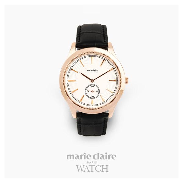 [마리끌레르시계 MARIECIAIRE] MCBB3812GWB 국내본사 정품 가죽 시계