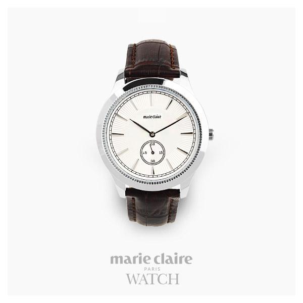 [마리끌레르시계 MARIECIAIRE] MCBB3812SWDBR 국내본사 정품 가죽 시계