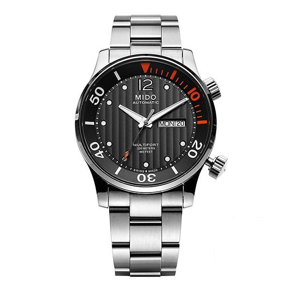 [미도 MIDO] M005.930.11.060.00 / 멀티포트 Multifort 오토매틱 남성 메탈시계 42mm 타임메카