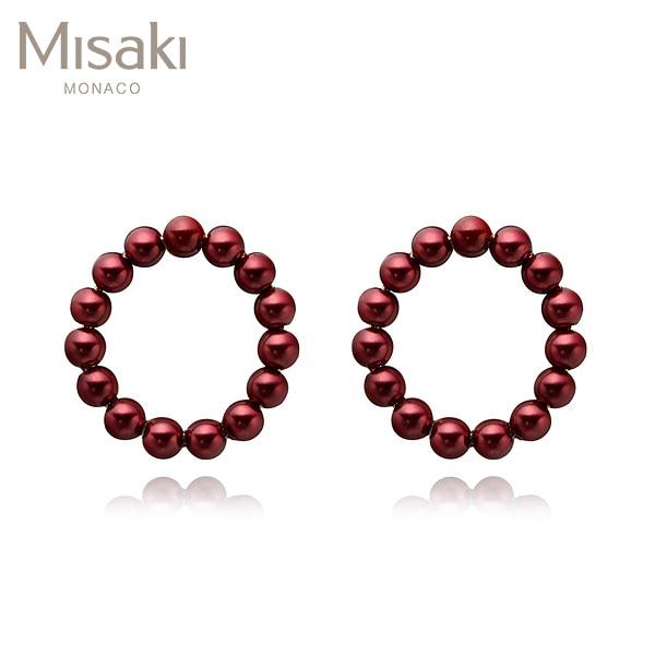 [미사키 MISAKI] QCREBLISSRED / BLISS RED 진주귀걸이 타임메카